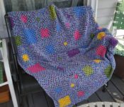 Scattered Squares afghan