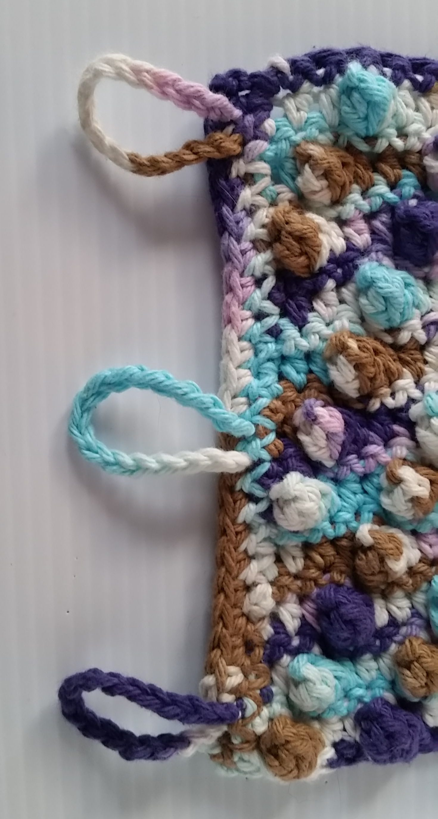 Free Crochet Pattern French Press Cozy Loop End