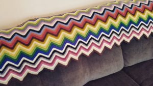 Colorful Ripple Afghan