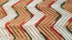 Ripple Afghan close up